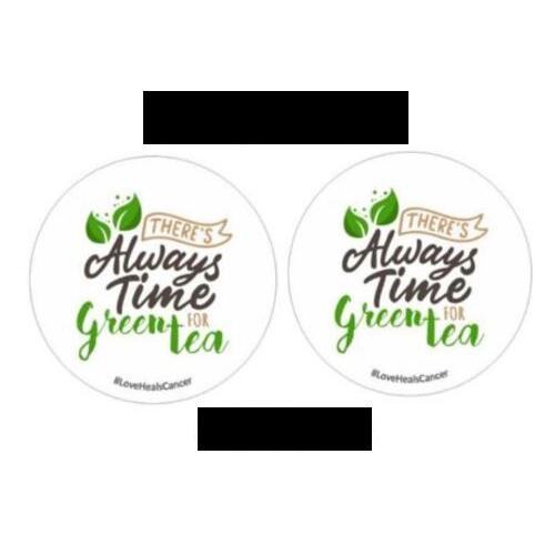 White Tea Coasters (1 Pair): ₹120